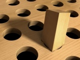 The square peg & the round hole*